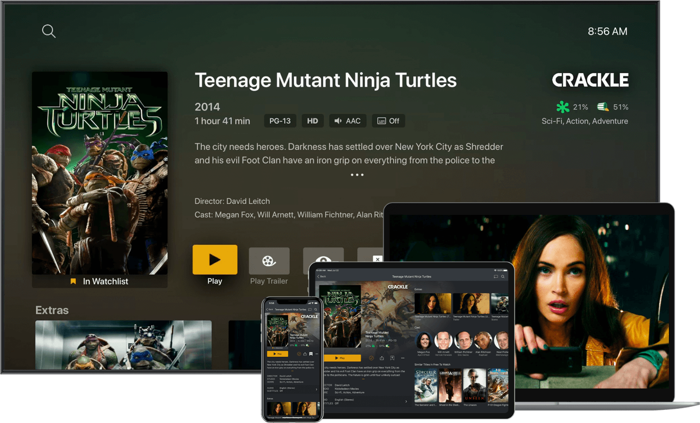 PLEX Media Server - Lets you stream to every device in your house.