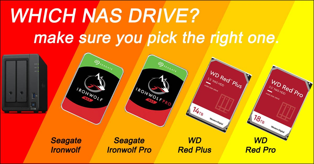 Choosing the right NAS hard drive!</br>Seagate Ironwolf vs WD Red.