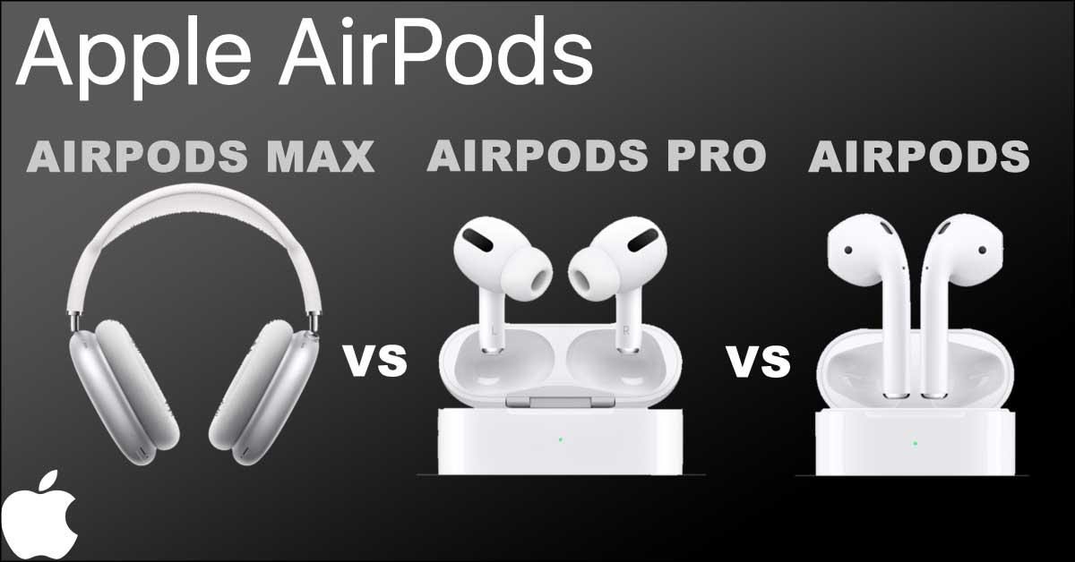 Airpods Max vs Airpods Pro vs Airpods